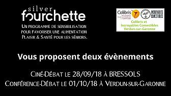 Silver Fourchette et Colibris organisent une projection-débat le 28/09 à Bressols et une conférence-débat et 01/09 à Verdun-sur-Garonne