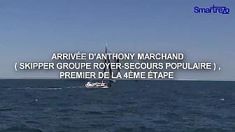 FLASH // Anthony Marchand, vainqueur de la quatrième étape de la Solitaire URGO Le Figaro @LaSolitaire2018 @Smartrezo @Tvlocale