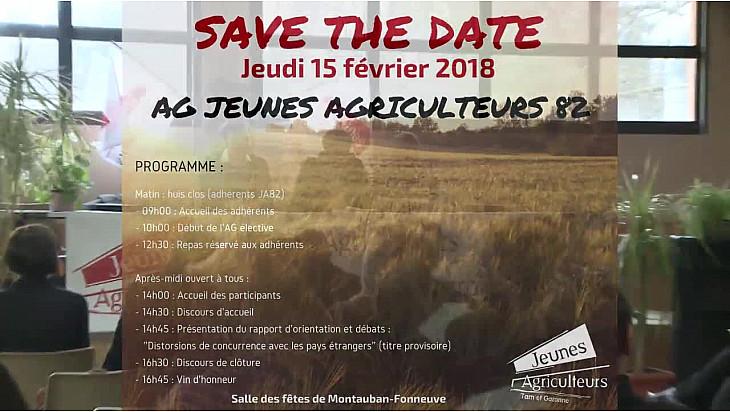 Jeunes Agriculteurs 82 :  Paul SAVIGNAC élu Président des JA82 pour deux années #JeunesAgriculteurs82