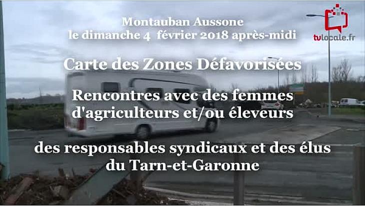 Carte des Zones Défavorisées: Les Agriculteurs soutenus par  leurs femmes  et la population au barrage de Montauban Nord ce dimanche 4 février. @FNSEA @tarnetgaronne_CG @Occitanie