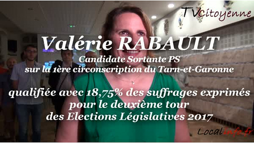 Valérie Rabault Candidate sortante PS qualifiée pour le deuxième tour des Législatives 2017 sur la 1ère circo du Tarn-et-Garonne @Valerie_Rabault