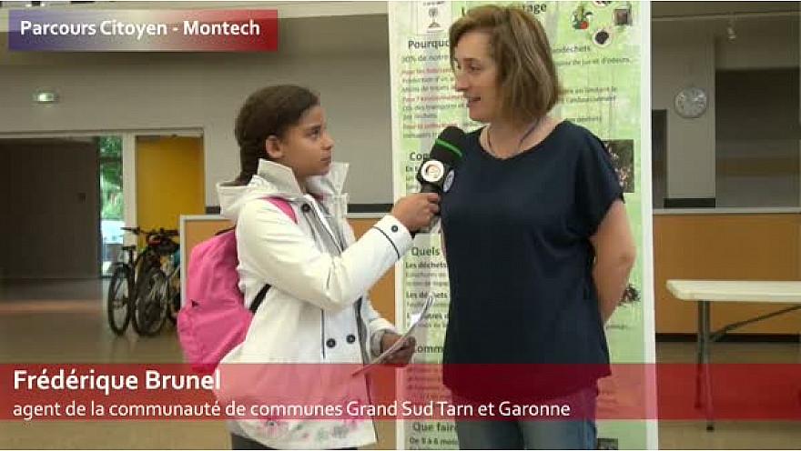 Parcours citoyen des écoles de la ville de Montech - Frédérique Brunel - agent de la communauté de communes Grand Sud Tarn et Garonne