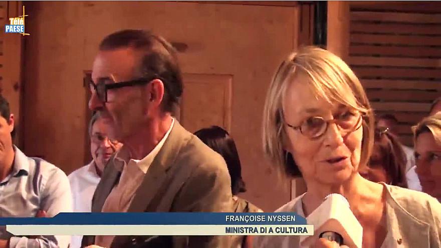 Corse : La ministre de la Culture, Françoise Nyssen, en visite à Pioggiola @FrancoiseNyssen