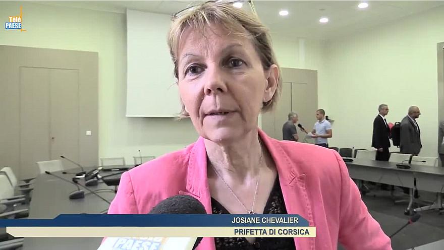 Josiane CHEVALIER Préfète de Corse avec les services de l'État définissent leurs priorités de contrôle pour la saison estivale @Prefet2A